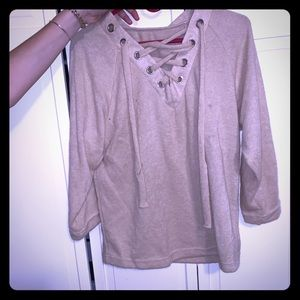 Sweaters - Soft lace up sweater